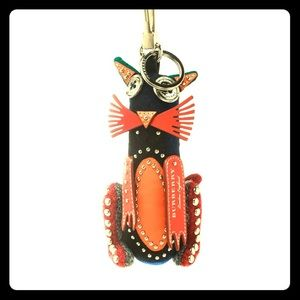 Burberry Rufus Cat Key Ring / Bag Charm